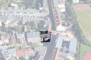 Halle - Steinweg - Schrägbild