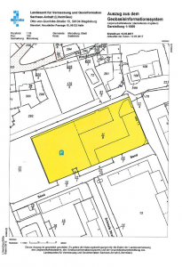 Merseburg - Einkaufszentrum Brühl - Lageplan