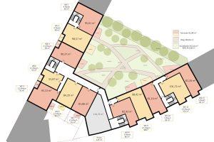 Schönefeld - Wohn- und Geschäftshausprojekt - Mustergrundriss 2