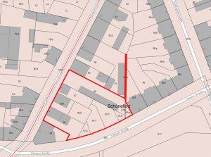 Lageplan der Grundstücke
